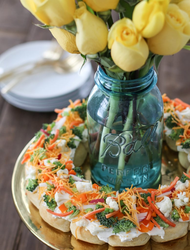 Spring Vegetable Pizza Wreath | Inspired by Charm