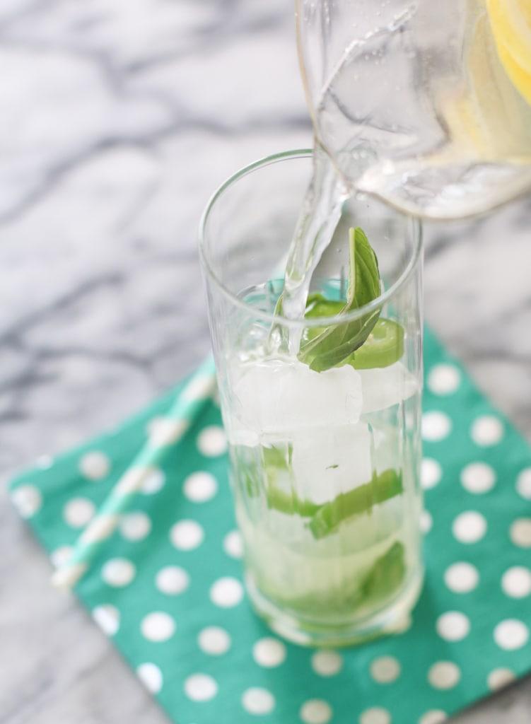 Lemonade with jalapeno and basil