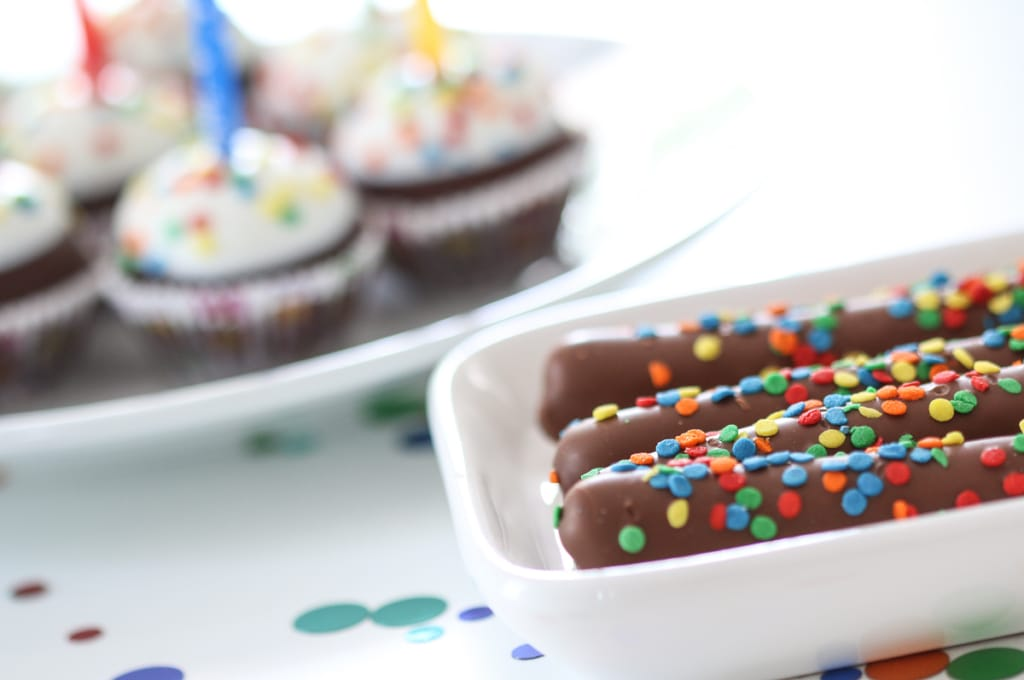 Birthday Pretzel Rods and Brownie Pops